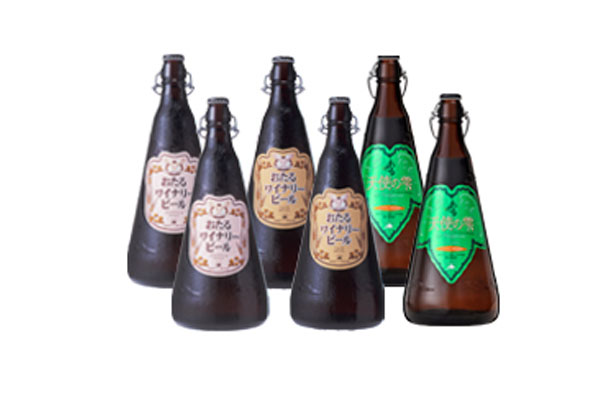 天使の雫・おたるワイナリービールアソートセット 1000mlx6本 ケース